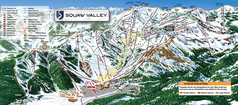 Squaw Valley Trail Map...